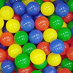 Ball diameter:6 cm. 100play balls for children in a mesh bag. For children from 9 months to 3 years. Colours: yellow, blue, green, red, orange.