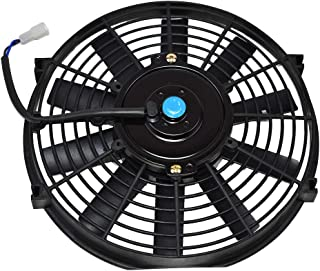 A-Team Performance 150051 Electric Radiator Cooling Fan High Performance 850 CFM 12V Reversible Flat 10 Blades Black 10 Inches
