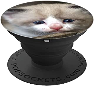 Sad Cat Crying Cat Cute Meme PopSockets Grip and Stand for Phones and Tablets