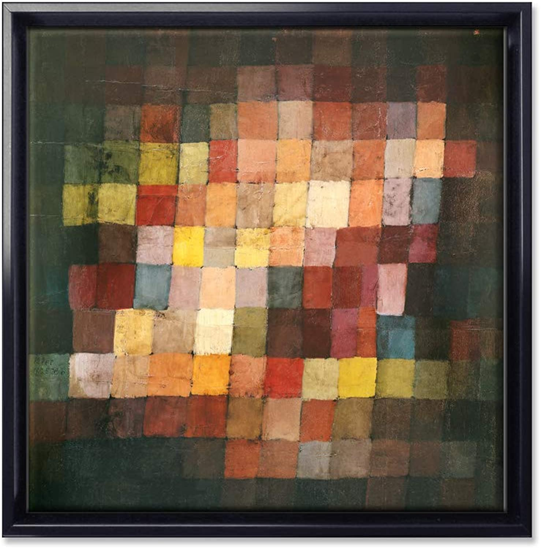KUNSTKOPIE.DE edles Leinwandbild Leinwandbild Leinwandbild  Schattenfugenrahmen - Harmonie - von Paul Klee in Größe S  4385a3