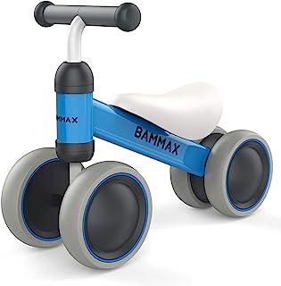 Bammax Bicicleta sin Pedales para Niños 1-2 Años 10-24 Meses Bicicleta Equilibrio Bebé Juguete Bebe Regalo de Cumpleaños Primera Bici sin Pedales Triciclos Bebes, Azul