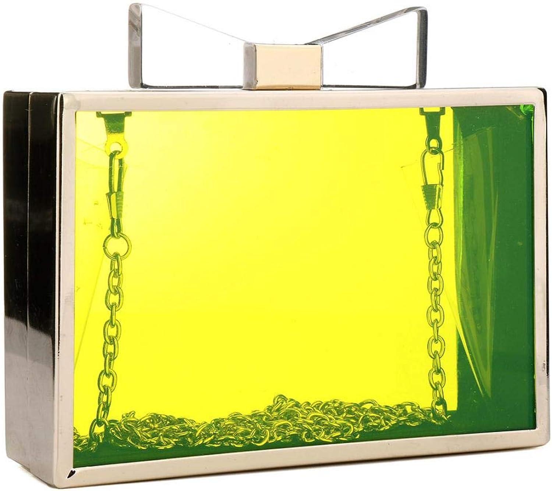 35f7a3ecfc Cute Transparent Clear Acrylic Crossbody Box Clutch Evening Bag Shoulder  Handbag gold Chain Purse For Women