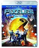Pixeles Pixels Adam Sandler , Pelicula Blu-ray 3d + Bd + Dvd Edicion Latina