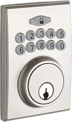 Copper Creek DBF3410SS Square Electronic Keypad Deadbolt, Satin Stainless