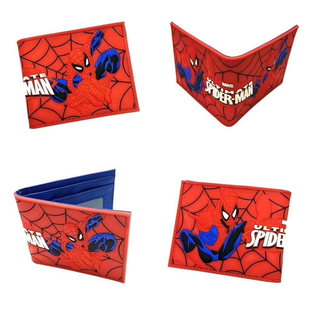 輪郭険しい血まみれMarvel Comics Spiderman二つ折りメンズBoys Wallet w /ギフトボックスby Athena