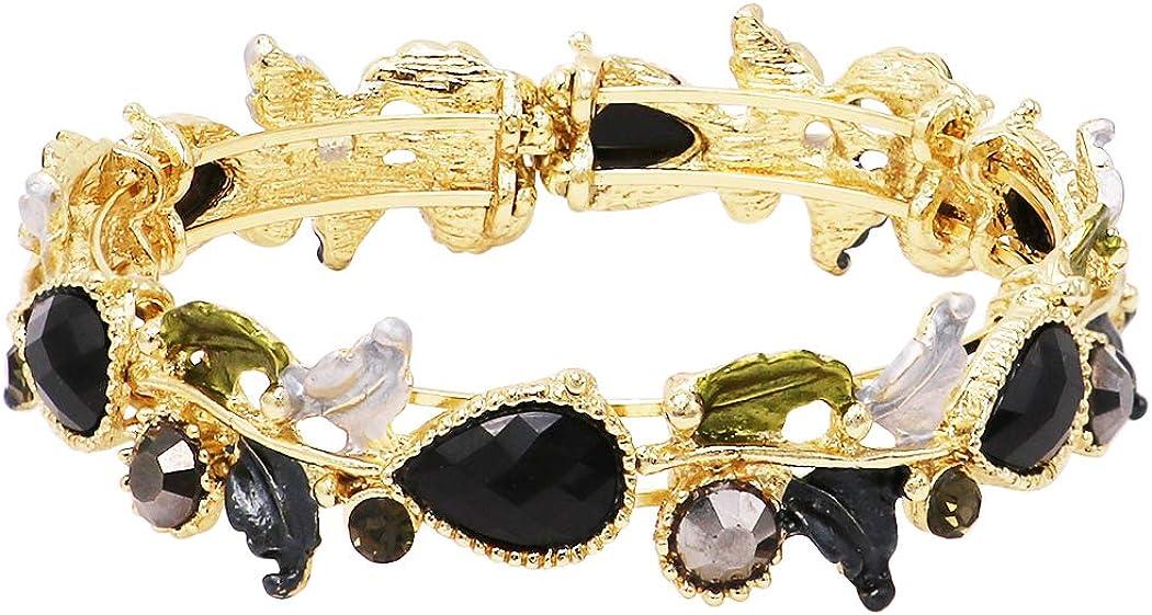 Rosemarie Jubalee Cheap mail Popularity order sales Women's Leaf Vine Crystal Wrap Fashion Cuff