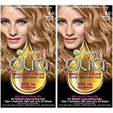 Garnier Olia Ammonia-Free Brilliant Color Oil-Rich Permanent Hair Color, 8.0 Medium Blonde (Pack of 2) Blonde Hair Dye
