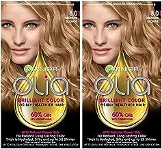 Garnier Olia Ammonia-Free Brilliant Color Oil-Rich Permanent Hair Color, 8.0 Medium Blonde (Pack of 2) Blonde Hair Dye
