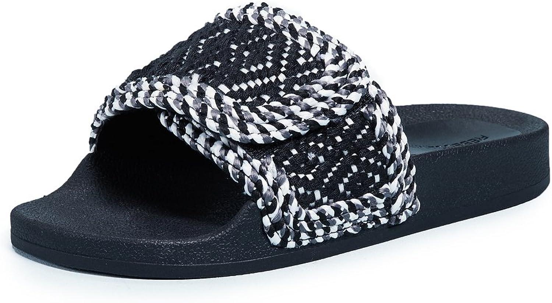 Rebecca Minkoff Woherrar Tressa Slides, svart, 7 7 7 B (M) US  de senaste modellerna