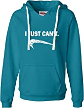 Go All Out Womens I Just Can't Funny Deluxe Soft Hoodie