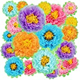 18 Pieces Colorful Fiesta Paper Flowers...