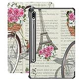 Funda para Galaxy Tab S7 Funda Delgada y Liviana con Soporte Funda para Tableta Samsung Galaxy Tab S7 de 11 Pulgadas Sm-t870 Sm-t875 Sm-t878 2020 Release, Paris Vintage Poster Newspaper