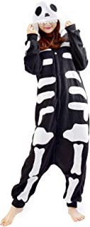 409805bf0165 Unisex Animal Pijama Ropa de Dormir Cosplay Kigurumi Onesie Esqueleto  Disfraz para Adulto Entre 1,