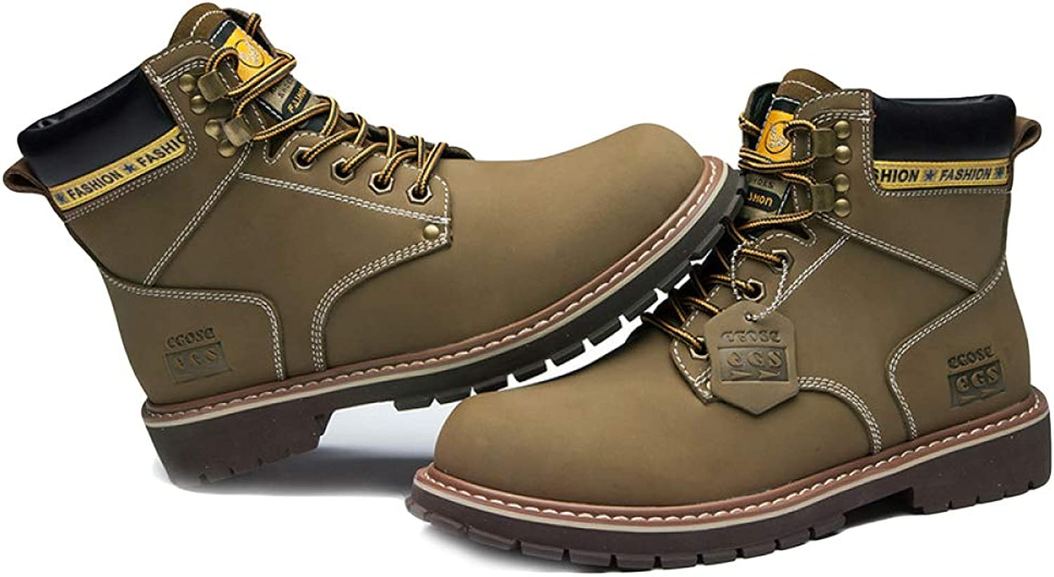 Boots Men's Casual Walking Martin Boots High Help Round Head Tactical Boots Thicken Anti-Skiing Boots Chukka Work Boots