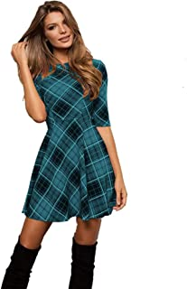 Women Summer Dress Off Shoulder Fit Comfy Casual Dresses H2