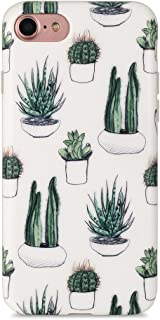 iPhone 7 Case, iPhone 8 Case, Sankton Slim Shockproof Flexible Soft TPU Cover with Matte Pattern for iPhone 7 / iPhone 8 4.7-inch (Cacti)