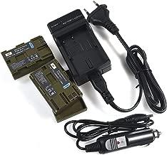 DSTE BP-511 Li-Ion Bater/ía Traje y Cargador Micro USB Compatible con Canon BP-511 BP-511A