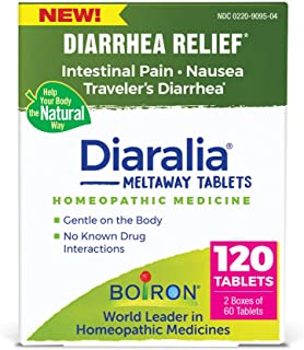 Boiron Diaralia Tablets Homeopathic Medicine for Diarrhea Relief, Intestinal Pain and Nausea, Non-Drowsy, 120 Tablets, 120...
