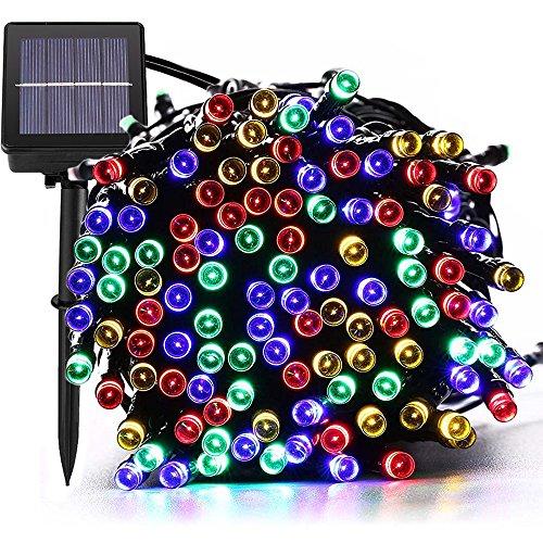 MagicLux Tech Luces Solar Exterior Tira Lamparas led de Decoraci/Garden Iluminaci de 22 Metros, 200 Leds Decoraci con de 8 Modos Las Cambia, Impermeable