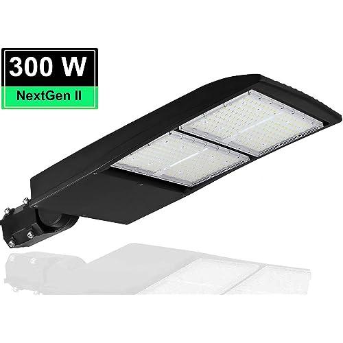 300W NextGen II LED Parking Lot Light - 40500 Lumen Led Shoebox Pole Lights 5700K -