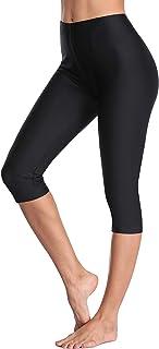 Swim Pants for Women High Waisted Swim Capris Swim Shorts...