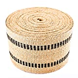 Upholstery/Craft Jute Webbing (Burlap) 3.5 Inches X 10 Yards-Natural W/Black Stripes