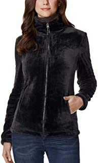 Womens Luxe Faux Fur Jacket, Black, XLarge