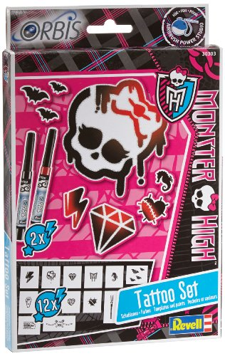 Revell Orbis 30303 - Kinderairbrush - Monster High Tattoo Set