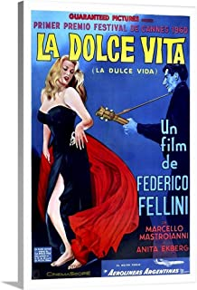 GREATBIGCANVAS Gallery-Wrapped Canvas Entitled La Dolce Vita - Vintage Movie Poster by Vintage Apple Collection 24
