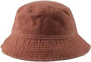 Unisex Short Brim Cotton Bucket Hat Summer Outdoor Leisure Fisherman Hat, Orange