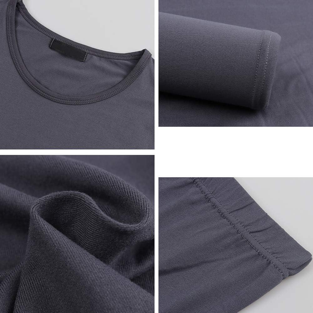 Rojeam Couple Thermal Underwear Set Fleece Lined Long Sleeve Top & Leggings
