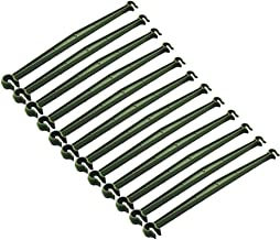 Amgate 12 Pcs Stake Arms for Tomato Cage, 11.8 Inches Expandable Trellis Connectors for Any 11mm Diameter Plant Stakes, 2 Buckle