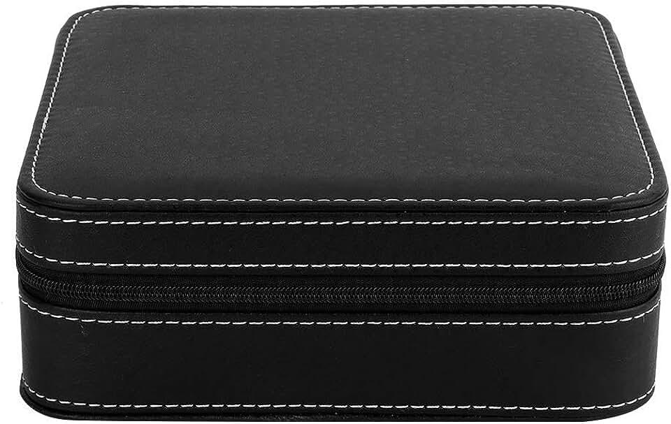 Portable Ostrich Skin Eyeglasses Display Case, Jewelry Watch Sunglass Lasses Glasses Storage Holder Organizer Box