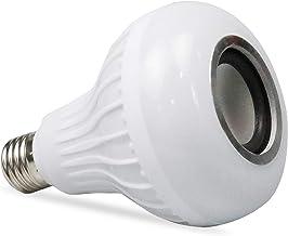لمبة إضاءة ذكية LED لاسلكية مكبر صوت RGB لمبة موسيقى ذكية E27 لون قاعدة C مع لبيت الحفلات