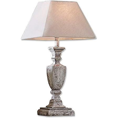 Loberon Lampe à poser Gorham - pin, coton, lin - H/D env. 58.5/14 cm