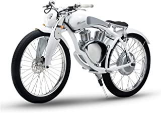 SHI PAO Munro Electric Motorcycle, 2 Wheels Classical Style Retro Motorbike, Removable 48V/500W/11.6Ah Lithium Battery Green Energy City/Beach Cruiser E-Bike with Powerful Display LED