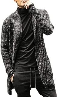 Men's Sweater Chunky Open Front Long Sleeve Knit Slim Cardigan