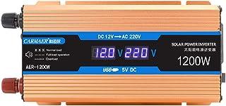 1200W Power Inverter 12V/24V48V/60V to 220V, Modified Sine Wave Car Inverter, Universal AC Outlets, DC to AC Converter wit...