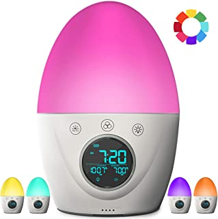 FiveHome Kids Alarm Clock, Children's Sleep Trainer, 7 Color Wake Up Light & Night Light, Sleep Timer -Teaches Child When Fine to Wake Up