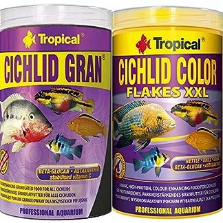 Tropical Cichlid Gran + Cichlid Flocken Fischfutter