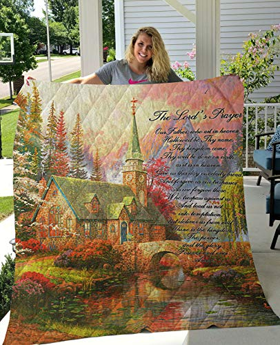 The Lord Prayer All Season Quilts Comforters Supper King / Queen / Twin Size - Best Decorative for Bed, Couch, Sofa, Chair, Swing, Daybed, Home Decor