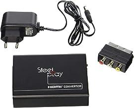 Steelplay - Convertisseur vidéo Péritel vers HDMI, Scart vers HDMI, compatible avec NTSC/PAL/SECAM pour PS3, PS4, Blue Ra...