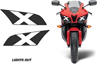 AMR Racing Sport Bike Headlight Eye Graphic Decal Cover Compatible with Honda CBR 600RR 2009-2012 - Lights Out