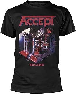 Plastic Head Accept 'Metal Heart' (Black) T-Shirt