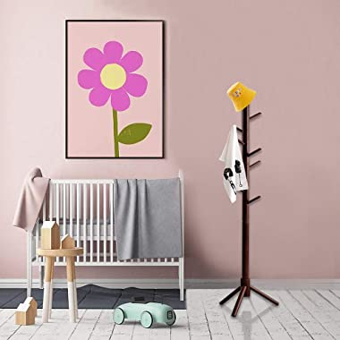 OYI Kids Coat Rack Clothing Coat Tree Sturdy Coat Rack Freestanding Kids Coat Hanger Stand No Tools Required Easy to Assembly