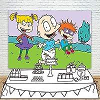 漫画ハッピーバースデー写真の背景写真の背景キッズ写真の背景写真ブースの小道具新生児の写真撮影結婚式祭テーマのパーティー子供の誕生日
