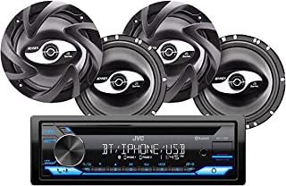 $149 » JVC KD-T710BT CD Receiver Bundled with + (2) Pairs JS265 2-Way Coaxial Car Speakers