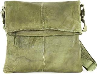 BZNA Bag Tara grün Italy Designer Damen Umhängetasche Handtasche Schultertasche Tasche Calf Leather Shopper Neu