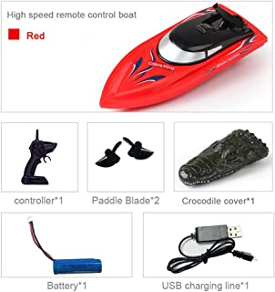 FunPa RC Boat 2.4GHz High Speed Electric RC Boat Remote Control Boat Electric Boat Toy for Children