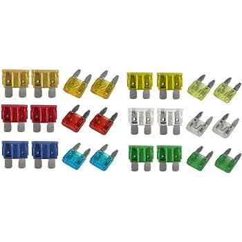 Car Caravan  PACK 14 Spare STD blade fuses in zip bag 5 7.5 10 15 20 25 30 Amp